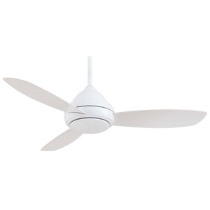 Concept I White 52-Inch LED Ceiling Fan