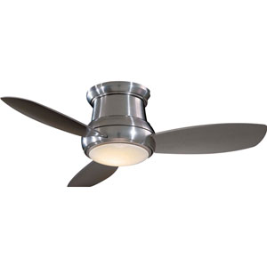 Concept II Brushed Nickel 44-Inch Flush LED Ceiling Fan