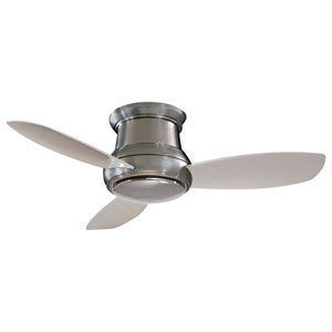 Concept II Brushed Nickel 52-Inch Flush LED Ceiling Fan