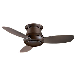 Concept II Oil Rubbed Bronze 52-Inch Flush LED Ceiling Fan