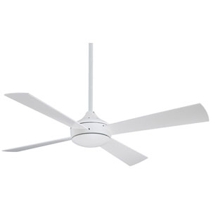 Aluma Flat White 52-Inch Ceiling Fan