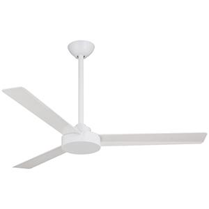 Roto Flat White 52-Inch Ceiling Fan