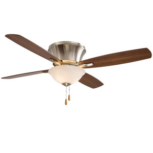 Mojo Ii Brushed Nickel 52-Inch Three-Light Ceiling Fan