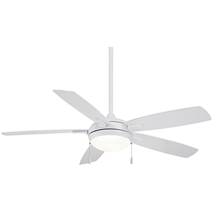 Lun-Aire White 54-Inch LED Ceiling Fan