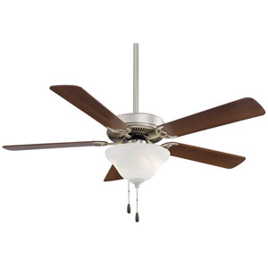 52-Inch Contractor Brushed Steel Ceiling Fan