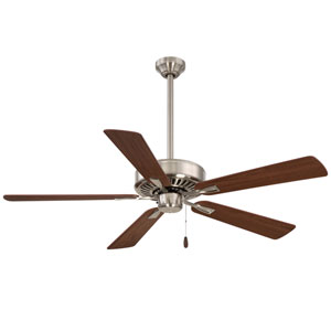 Contractor Plus Brushed Nickel 52-Inch Ceiling Fan