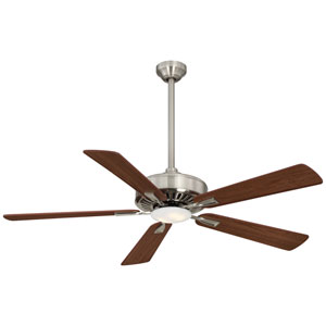 Contractor Brushed Nickel 52-Inch Ceiling Fan with Dark Walnut Blades