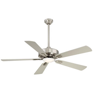 Contractor Brushed Nickel 52-Inch Ceiling Fan