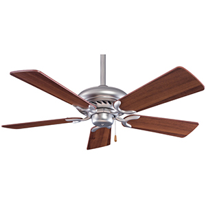 Supra Brushed Steel 44-Inch Ceiling Fan