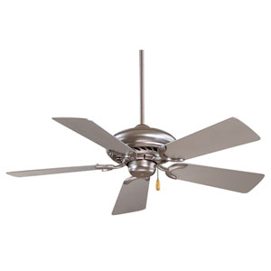 Supra 44  Brushed Steel Fan