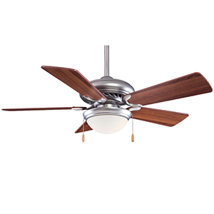 Supra 44 SP Brushed Steel One Light 44-Inch Ceiling Fan