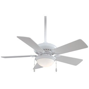 44-Inch Supra White Ceiling Fan