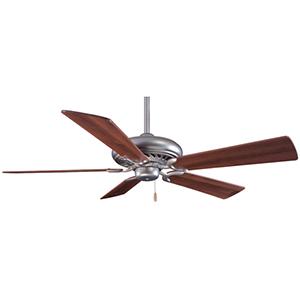 Supra Brushed Steel  Energy Star 52-Inch Ceiling Fan