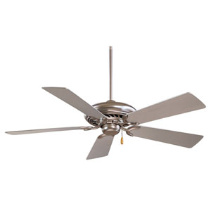 Supra 52 Brushed Steel  Fan