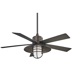 Rainmano Plated Smoked Iron 54-Inch Outdoor Ceiling Fan