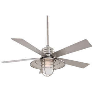 Rainman Brushed Nickel 54-Inch Blade Indoor/Outdoor Ceiling Fan for Wet Locations