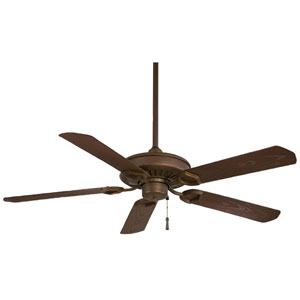 Sundowner 54-In. Oil Rubbed Bronze Ceiling Fan with Dark Maple Blades