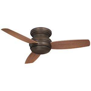 Traditional Concept Oil Rubbed Bronze 44-Inch Flush Outdoor LED Ceiling Fan