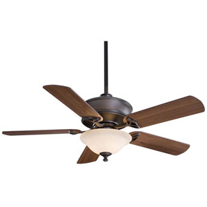 Bolo 52-In. Oil Rubbed Bronze Ceiling Fan with Medium Maple Blades