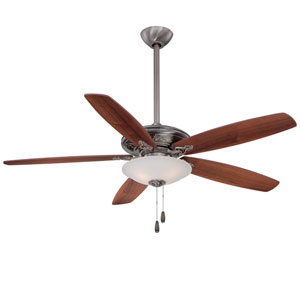 Traditional Mojo Pewter 52-Inch Three-Light Ceiling Fan