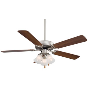 Contractor Brushed Steel 52-Inch Ceiling Fan