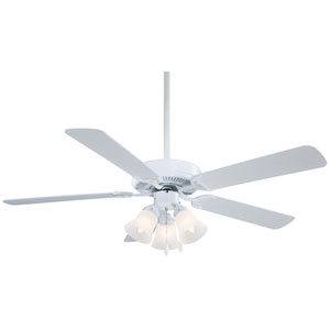 Contractor White 52-Inch Ceiling Fan