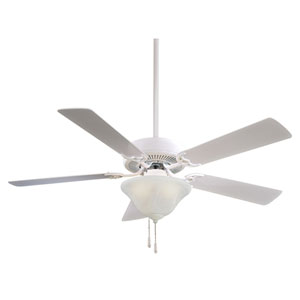 Contractor White 52-Inch Energy Star Ceiling Fan
