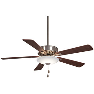 Contractor Brushed Nickel 52-Inch One-Light LED Fan