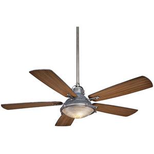 Groton Weathered Steel 56-Inch Two-Light Fan