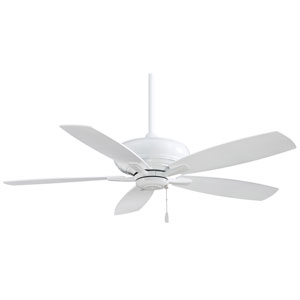 Kola 52-Inch Ceiling Fan in White with Five Blades