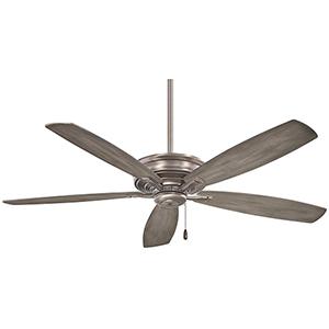Kafe Brushed Nickel 52-Inch Ceiling Fan