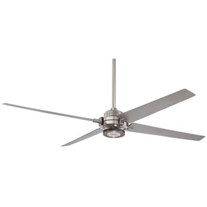 Spectre Brushed Nickel with Silver 60-Inch Ceiling Fan