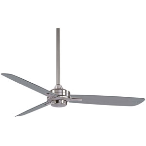 Rudolph Brushed Nickel 52-Inch Fan with Silver Blades