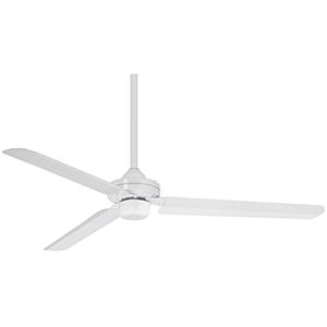 Steal Flat White 54-Inch Ceiling Fan