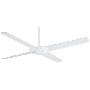 Pancake Flat White 52-Inch Ceiling Fan