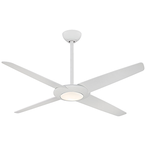 Pancake XL Flat White 62-Inch LED Ceiling Fan