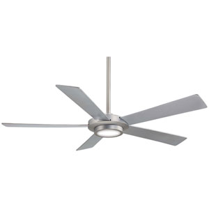 Sabot Brushed Nickel 52-Inch Ceiling Fan