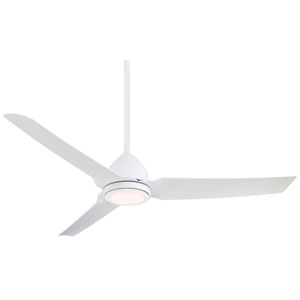 Java Flat White 54-Inch One-Light Outdoor LED Fan