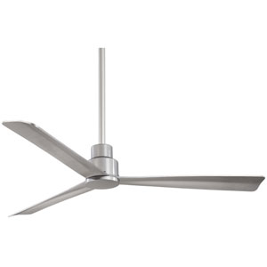 Simple Silver 52-Inch Outdoor Fan