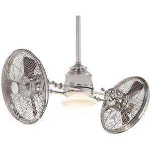 Vintage Gyro Polished Nickel 42-Inch Ceiling Fan