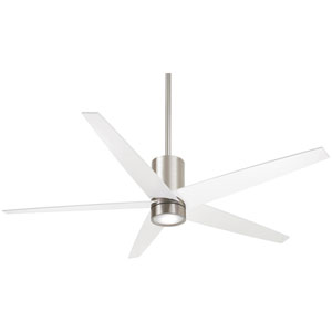 Symbio Brushed Nickel and White One-Light LED Ceiling Fan