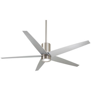 Symbio Brushed Nickel One-Light LED Ceiling Fan