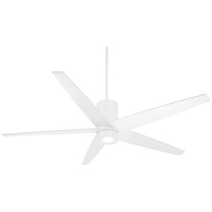 Symbio Flat White One-Light LED Ceiling Fan