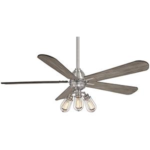 Alva Brushed Nickel 56-Inch LED Ceiling Fan