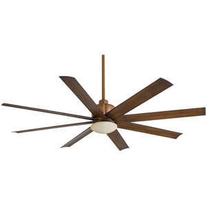Slipstream Distressed Koa 65-Inch One-Light Fluorescent Outdoor Ceiling Fan
