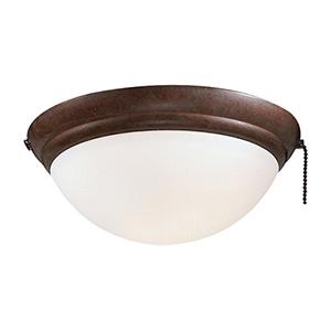 Oil Rubbed Bronze One Light Ceiling Fan Light Kit