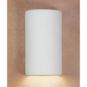 Great Andros Bisque Flush Wall Sconce