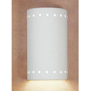 Great Delos Bisque Flush Wall Sconce