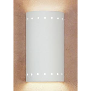 Great Melos Bisque Flush Wall Sconce