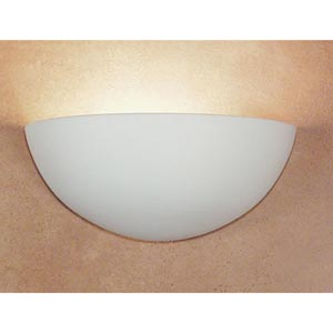 Great Thera Bisque Half-Moon Wall Sconce